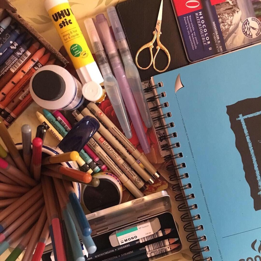 Art supplies, Janelle Bighinatti